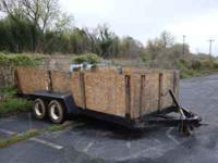 Utility Trailer With Side Panels 16x6 1/2  Location: