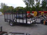 12' utility trailer. Side and Rear ramps. This trailer