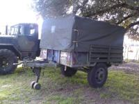 Military........Good trailer with working lights and