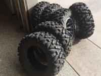(6) brand new utv tires ( 3) 27x11x14 and (3) 27x9x14,