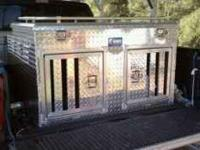 UWS dog box with top storage, and divider. For full