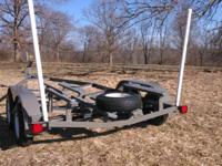 18'-20' single axle v bottom boat trailer 1945. tandem