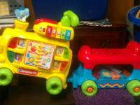 V-Tech ABC Train with blocks.  Good condition, $25.