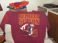 Va Tech Perfect Season Sweat Shirt-`1999 Hardly worn XL