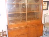 Danish Modern China Hutch by Stanley Furnishings ...
