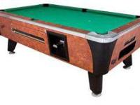 This is your standard Bar Coin Op Pool table. Perfect