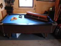 Valley regulation bar pool table for sale. New felt,