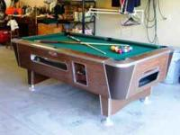 * * * * * * THIS 6-½' VALLEY COIN OPERATED POOL TABLE
