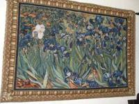 Van Gogh tapestry with rod Irises, Saint-Remy c. 1889,