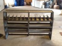 Adrian steel shelving. 2 units in good condition.