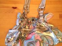 Kathy Van Zeeland Pastel Paisley purse. Utilized but in
