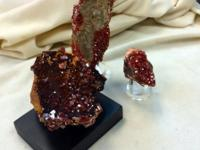 Vanadinite Crystals From Morocco. Crimson to orange red