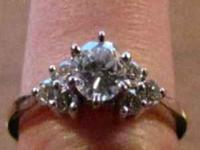 A Vancott 14carat white gold. Center diamond is a 1/4