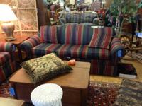 This is a real nice used vanguard sofa with scotch