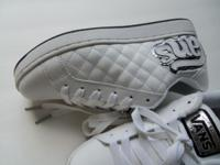Yes, these are brand new/clean/never worn quilted white