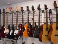 We have a vast selection of guitars (electric and