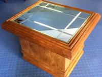 1- Mirrored side table,solid wood.........$60 2- Sofa