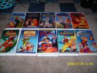 I have a huge range of Walt Disney VHS tapes for sale.