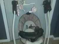 SOLD- $20-Gently used Graco baby swing for sale. Has