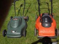 Variety of mowers push reel, electric, gas rear bag &
