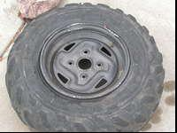 aluminum OEM rims from Kawasaki Brute Force rear IRS,