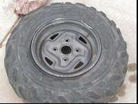aluminum OEM rims from Kawasaki Brute Force rear IRS,