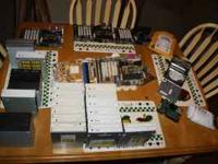 Various parts taken from desktop and laptop computers,