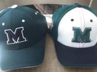 Atleast 100 hats, some Velcro, fitted and fitted. NCAA,