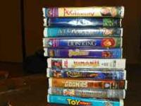 All the movies for $15 or $.50 ea Disney movies