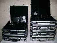 Hard-sided storage cabinets, cases and boxes. All have