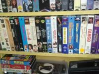 I HAVE  HUNDREDS OF VCR MOVIES FOR SALE, TOO MANY TO