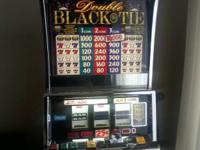 "Have a lovely EX-VEGAS IGT ""Double Black Tie"" slot"