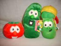 VeggieTale Beanie Babies - Bob the tomato, Larry the