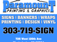 We are Paramount Printing & Graphics and we offer every