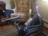 New condition; barely used spin bike. Asking $375. Cash