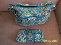 Vera Bradley bag with matching wallet. $40.00 for set