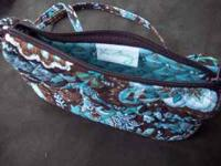 "Vera Bradley Pocketbook Brown and Turquoise 8"" x 5"""