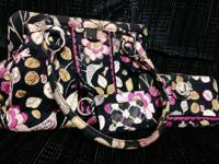 Vera Bradley (Floral Nightingale Pattern).  Frame Bag
