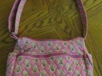 VERA BRADLEY PINK PAISLEY SHOULDER BAG. GREAT