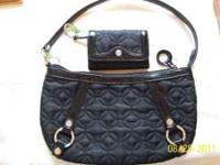 Vera Bradley Carlyle Bag Nylon Black, and Plaza Card