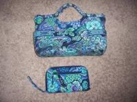 vera bradley purse and wallet. wallet is in excellent