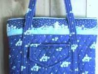 Pretty winter pattern...Very big handbag $20.00, and a