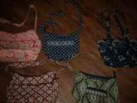 I have 5 very good condition Vera Bradley purses for