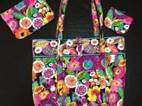 Lots of Vera Bradley items ... handbags, hipsters,
