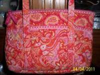 Vera Bradley Retired Sherbert Little Besty Handbag This