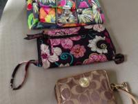 Used in exellent shape Clutches.  @ Vera Bradley