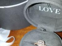 Vera Wang LOVE Collection 14k rose gold engagement ring