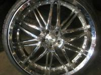 VERDE 22 INCH 5 LUGS CHROME RIMS & TIRES - 5X4.5 BOLT 5