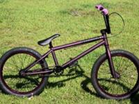 Verde Cadet BMX Bike, Purple with trick bars, almost