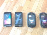 4 Verizon Android Phones (all have clean ESN).